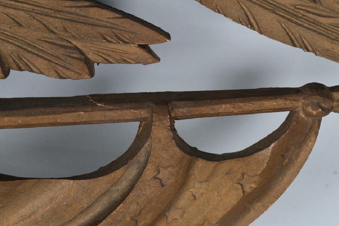 VINTAGE CARVED EAGLE with SHIELD & FLAG - 6