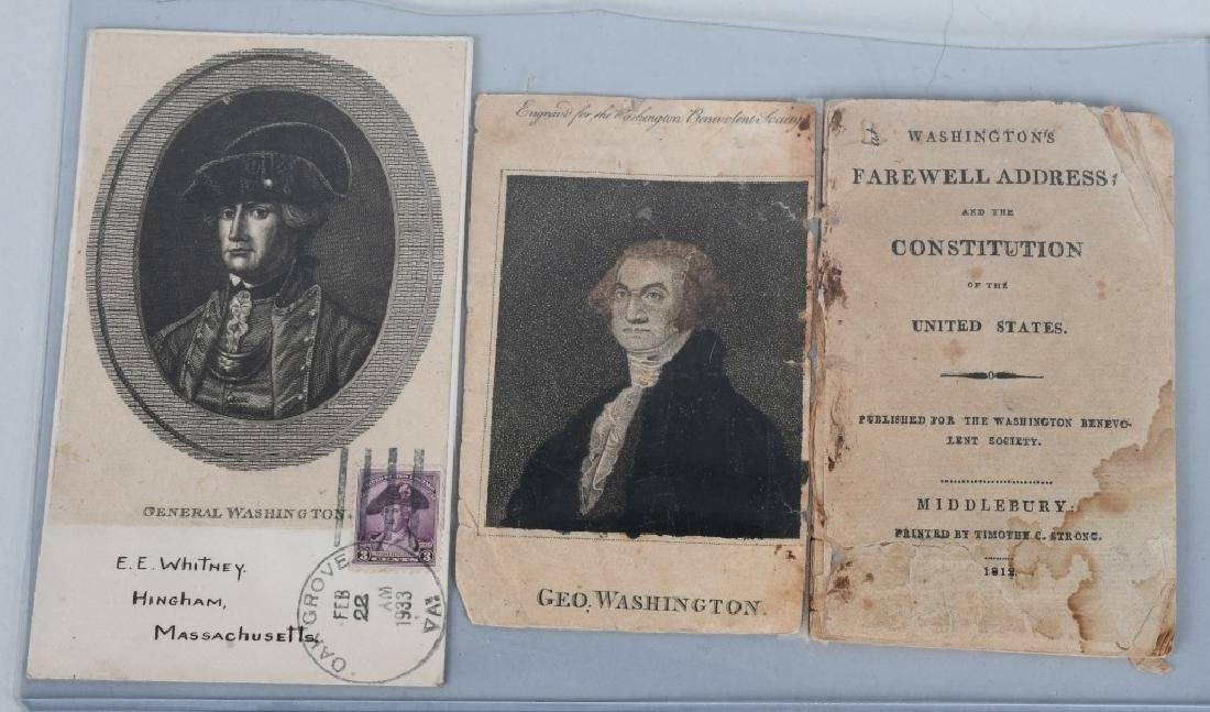 1812 WASHINGTON'S FAREWELL ADDRESS BOOKLET & MORE