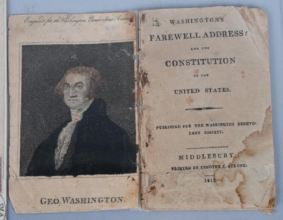 1812 WASHINGTON'S FAREWELL ADDRESS BOOKLET & MORE - 2