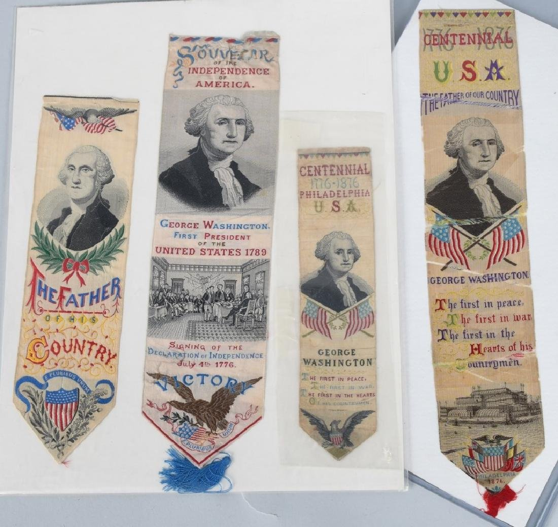 4-1876 PHILADELPHIA CENTENNIAL WASHINGTON RIBBONS