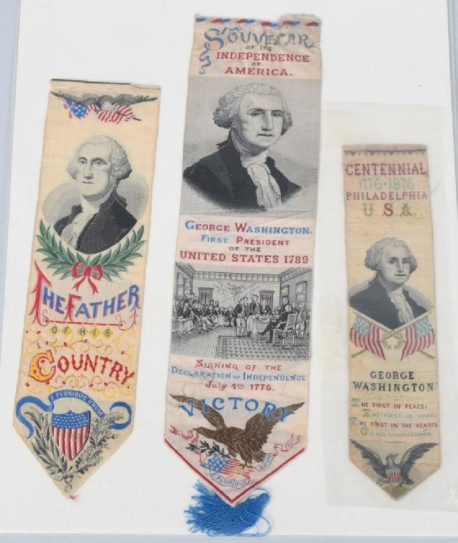 4-1876 PHILADELPHIA CENTENNIAL WASHINGTON RIBBONS - 2
