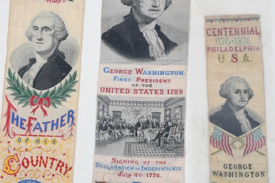 4-1876 PHILADELPHIA CENTENNIAL WASHINGTON RIBBONS - 4
