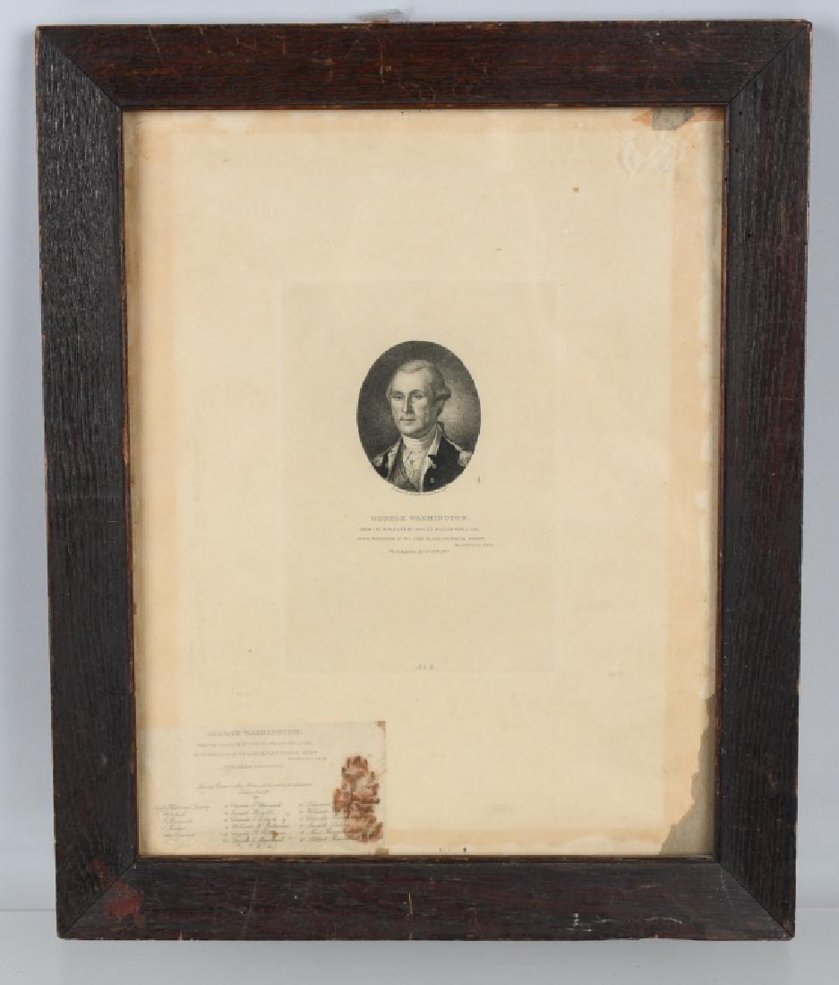 1897 GEORGE WASHINGTON ETCHING, ALBERT ROSENTHAL