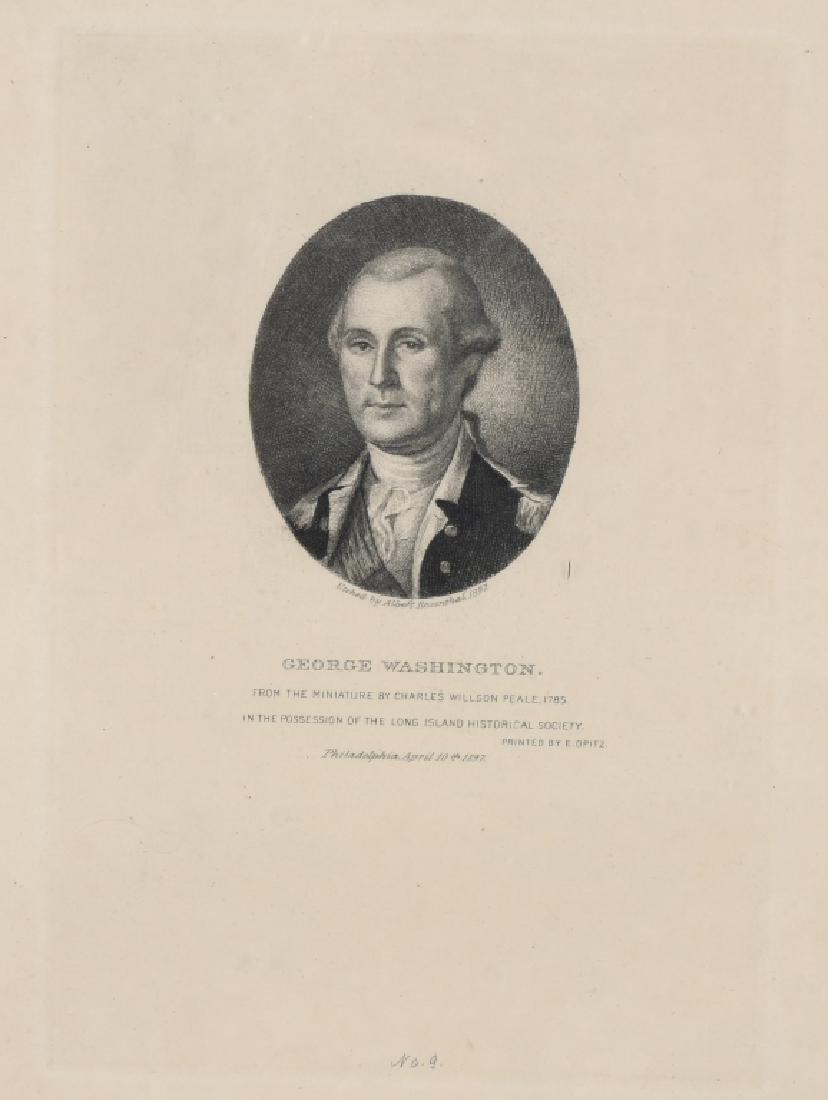 1897 GEORGE WASHINGTON ETCHING, ALBERT ROSENTHAL - 2