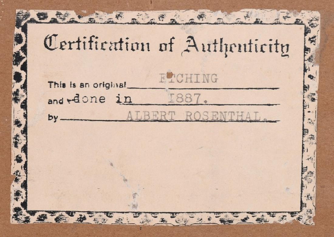 1897 GEORGE WASHINGTON ETCHING, ALBERT ROSENTHAL - 6