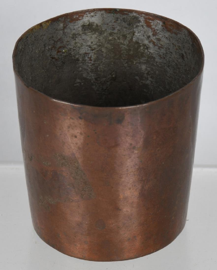 2-EARLY DRINKING CUPS, COPPER & HORN - 3