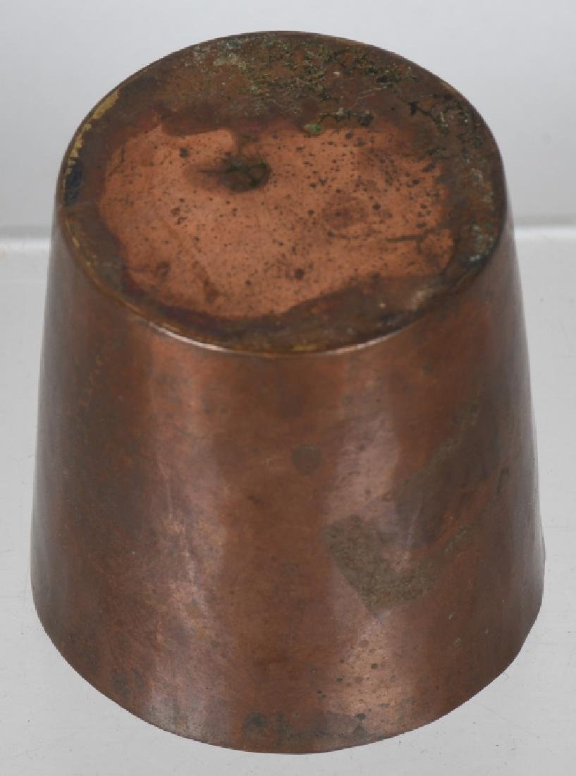 2-EARLY DRINKING CUPS, COPPER & HORN - 4