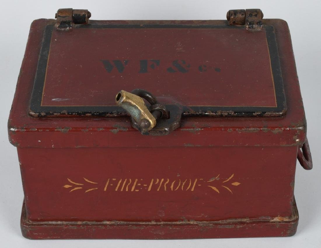 ANTIQUE STRONG BOX with LOCK