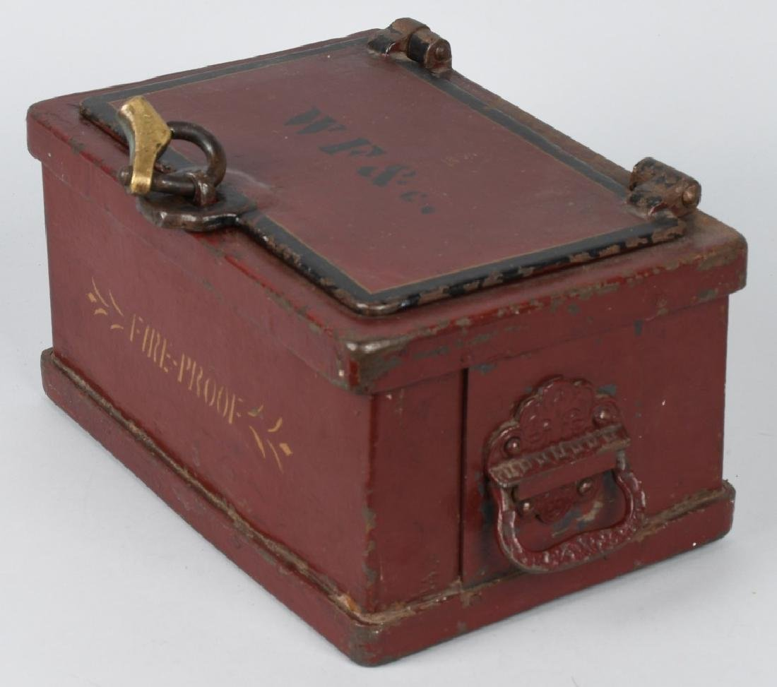 ANTIQUE STRONG BOX with LOCK - 3