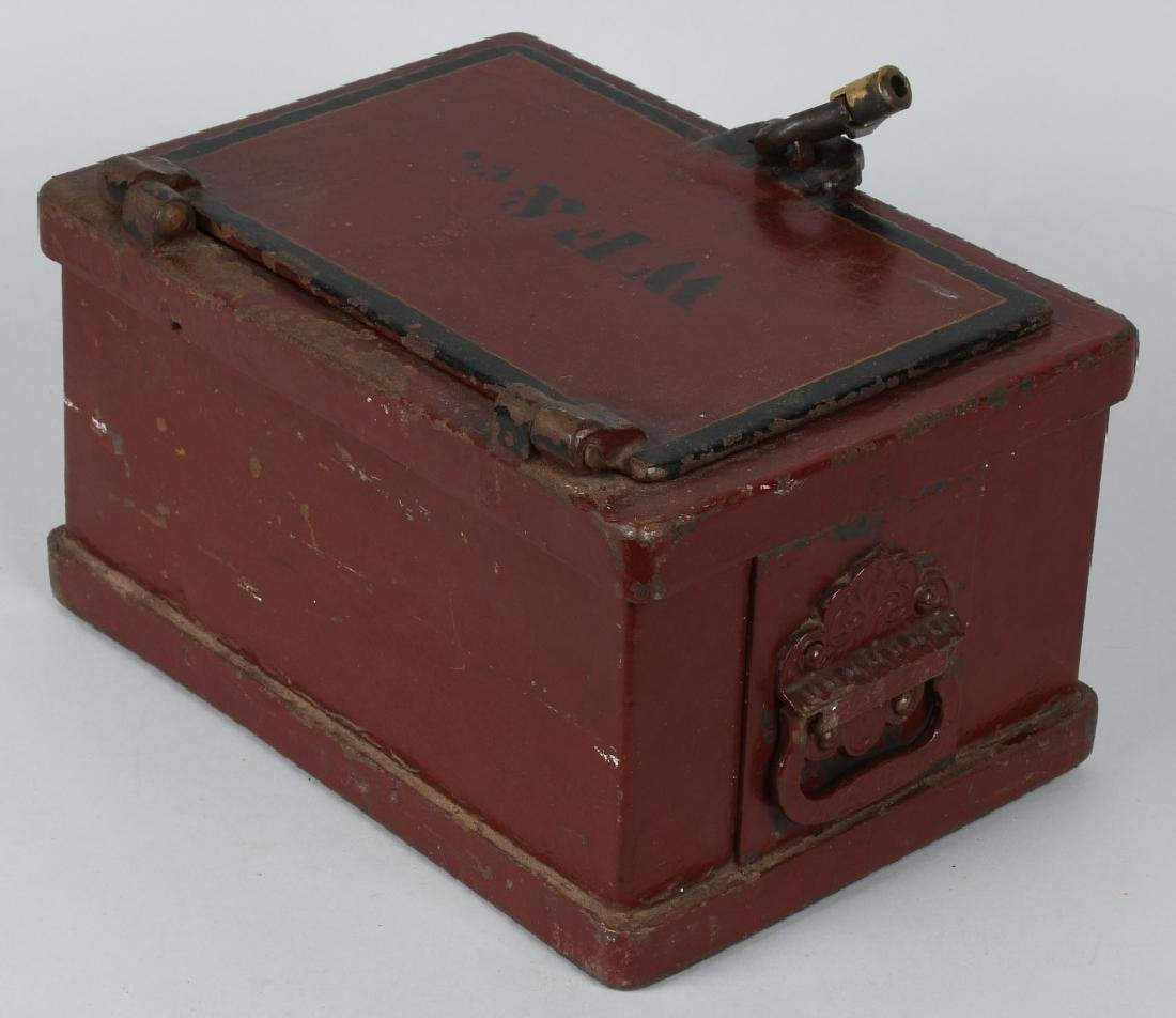 ANTIQUE STRONG BOX with LOCK - 4
