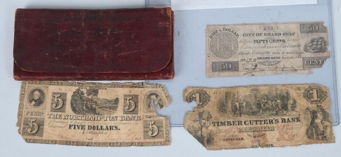 19th CENT. WALLET, GLASSES, MONEY & MORE - 2