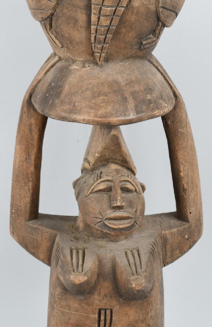 VINTAGE AFRICAN TRIBAL CEREMONIAL SENUFO DRUM - 4