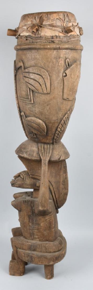 VINTAGE AFRICAN TRIBAL CEREMONIAL SENUFO DRUM - 6