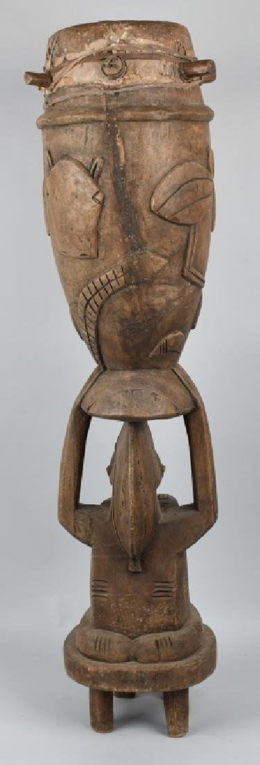VINTAGE AFRICAN TRIBAL CEREMONIAL SENUFO DRUM - 7