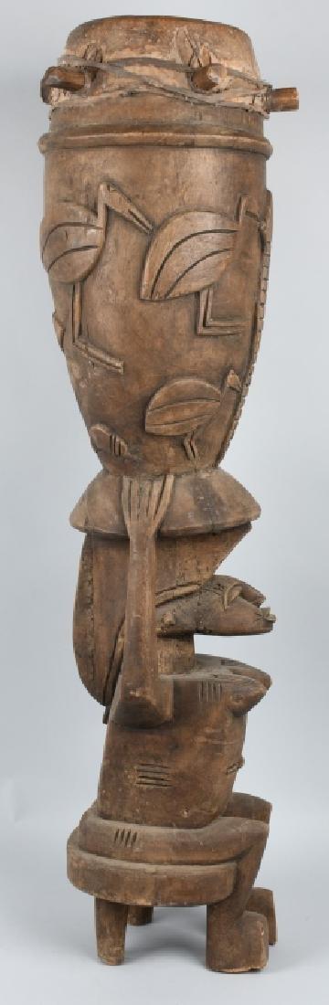 VINTAGE AFRICAN TRIBAL CEREMONIAL SENUFO DRUM - 8