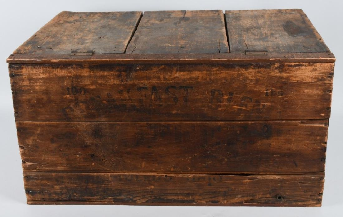 EARLY BREAKFAST BLEND WOODEN COFFEE CRATE - 4