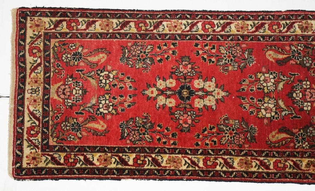"148""x32"" ANTIQUE IRAN ORIENTAL RUNNER RUG - 2"