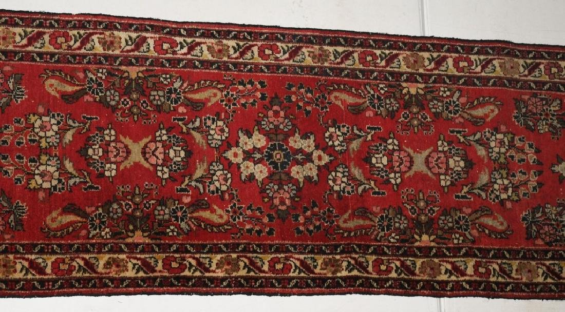 "148""x32"" ANTIQUE IRAN ORIENTAL RUNNER RUG - 3"
