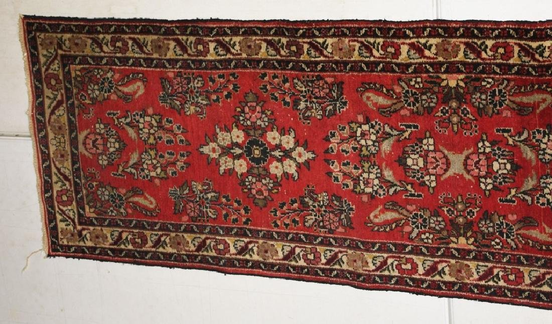 "148""x32"" ANTIQUE IRAN ORIENTAL RUNNER RUG - 4"