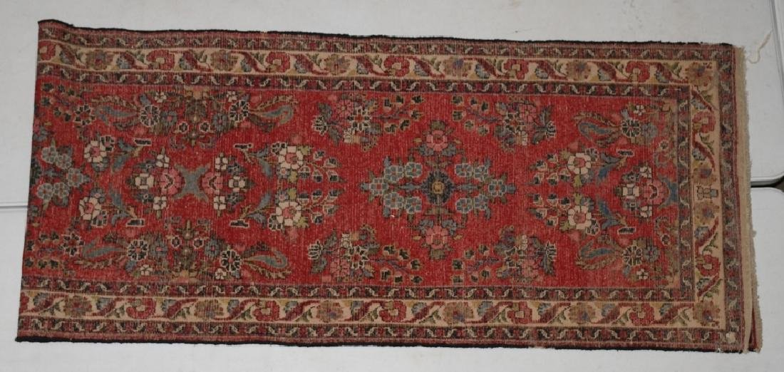 "148""x32"" ANTIQUE IRAN ORIENTAL RUNNER RUG - 5"