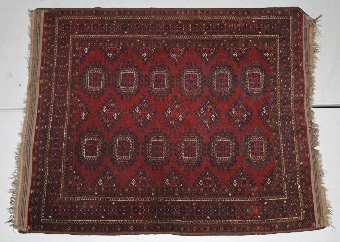 "60""x48"" ANTIQUE AFGHAN ORIENTAL RUG"