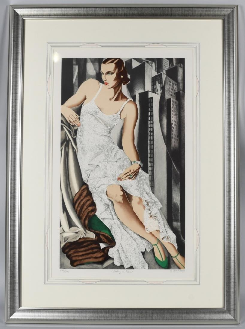 TAMARA de LEMPICKA LITHOGRAPH, LADY in LACE