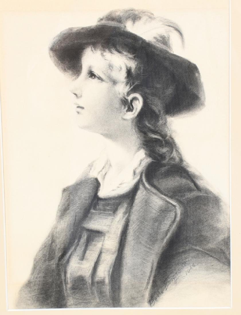 BELLE EMERSON KEITH PORTRAIT OF CHILD CHARCOAL - 2