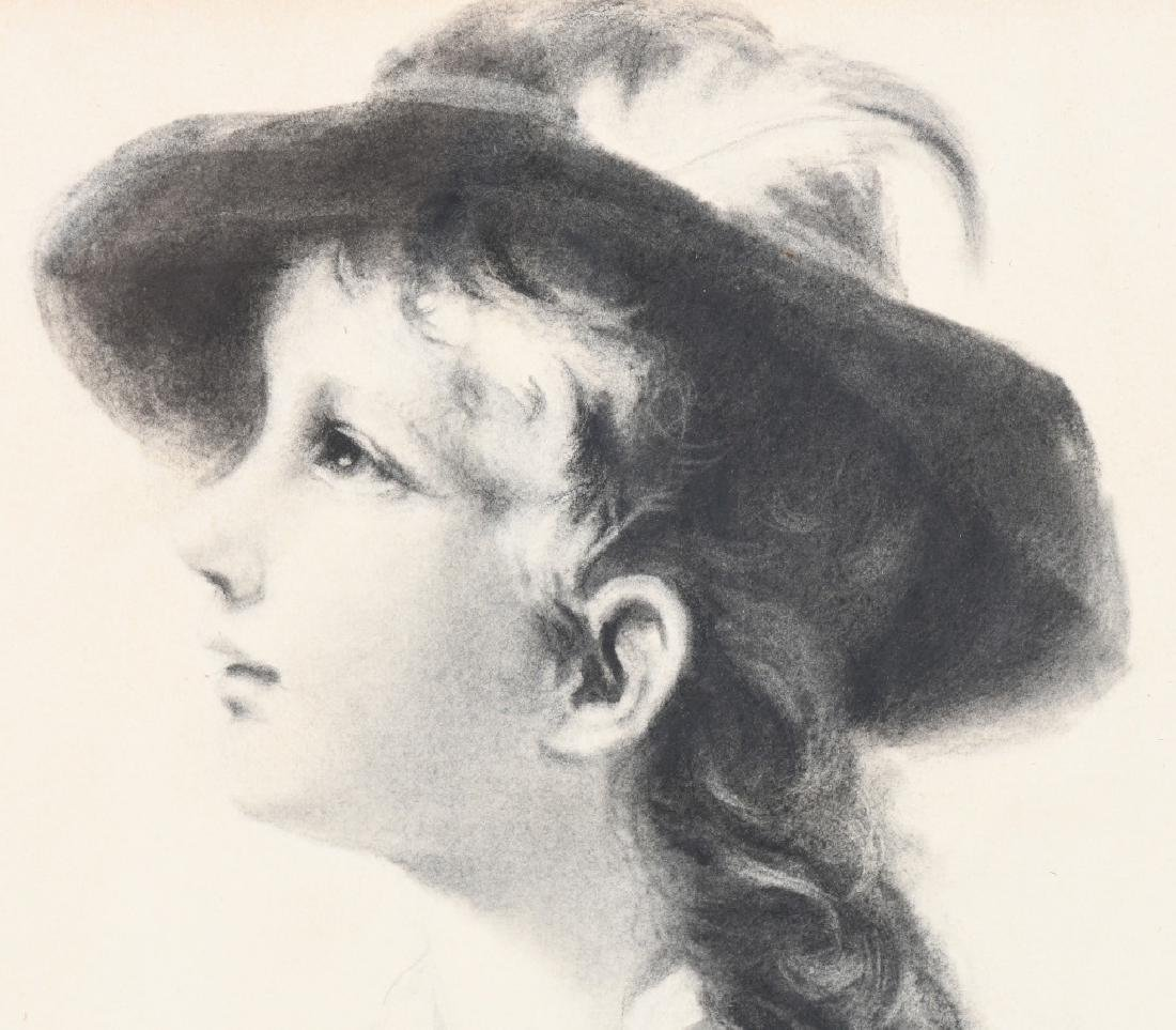 BELLE EMERSON KEITH PORTRAIT OF CHILD CHARCOAL - 3