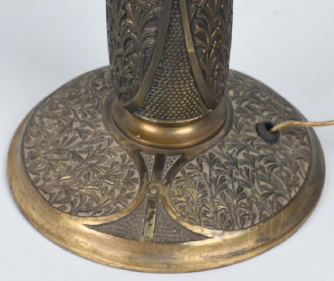 REVERSE PAINTED TABLE LAMP w/ ORNATE BASE - 10