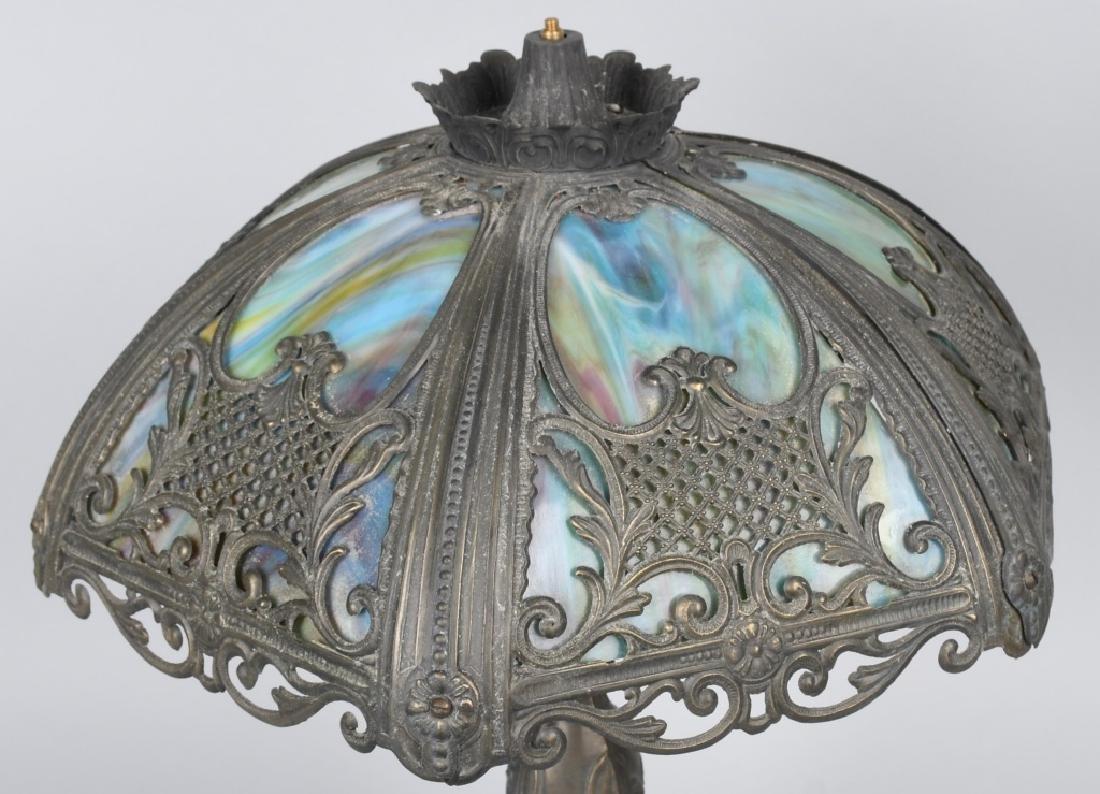 SLAG GLASS LAMP - 3