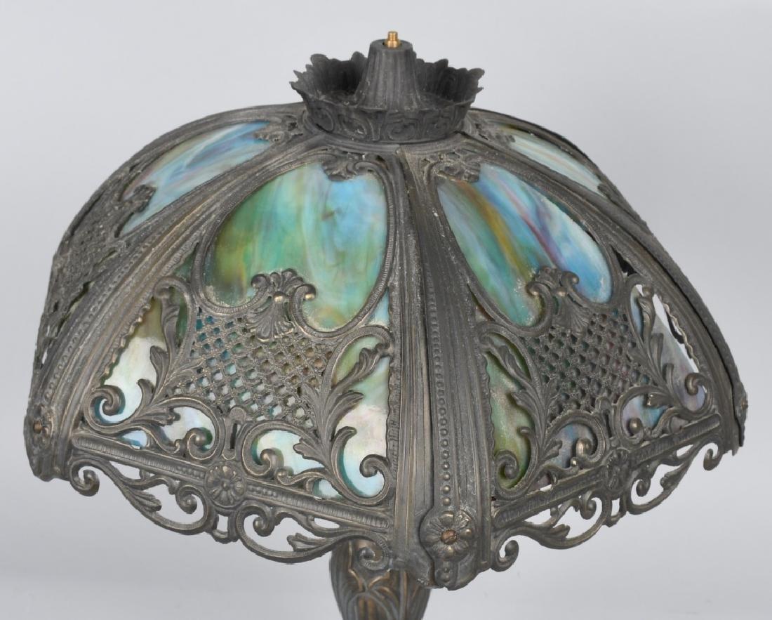 SLAG GLASS LAMP - 4