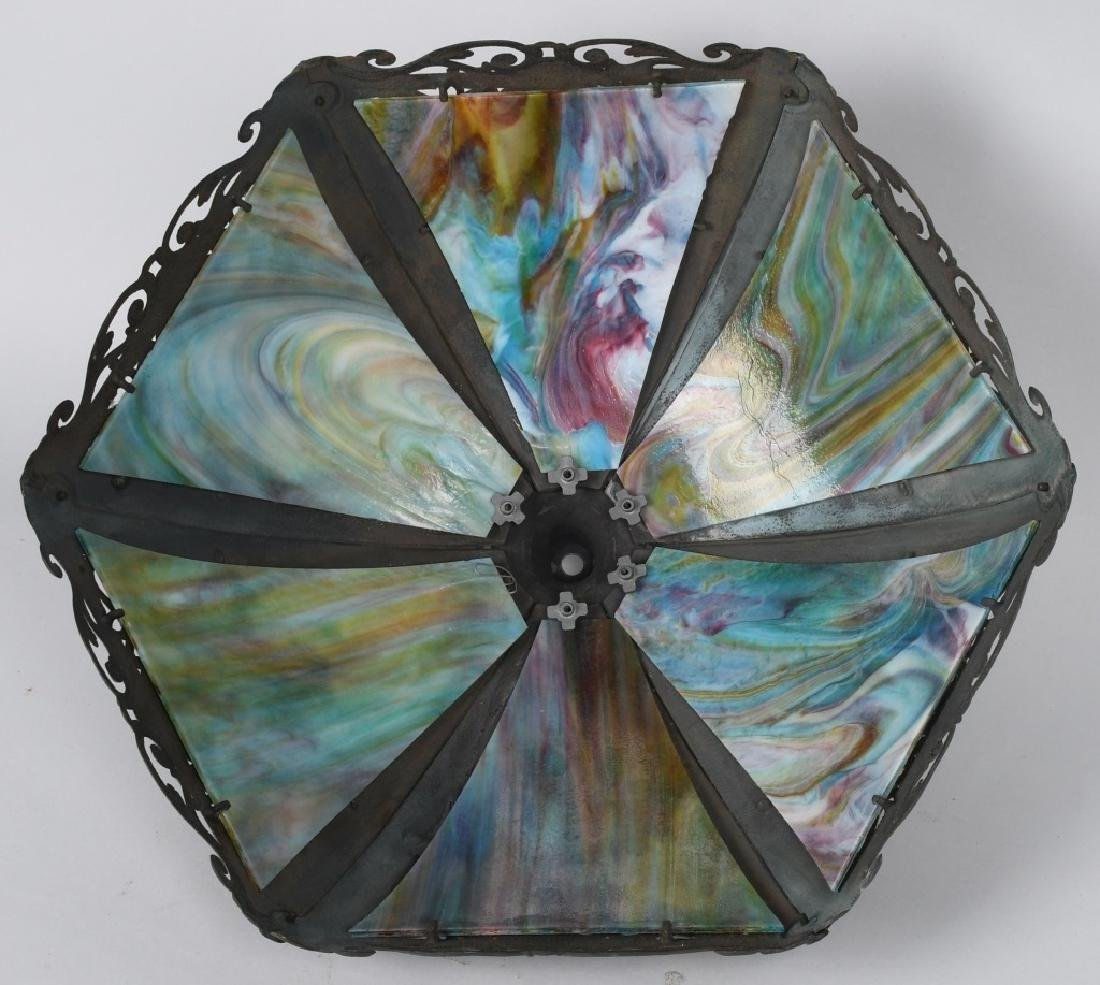 SLAG GLASS LAMP - 5