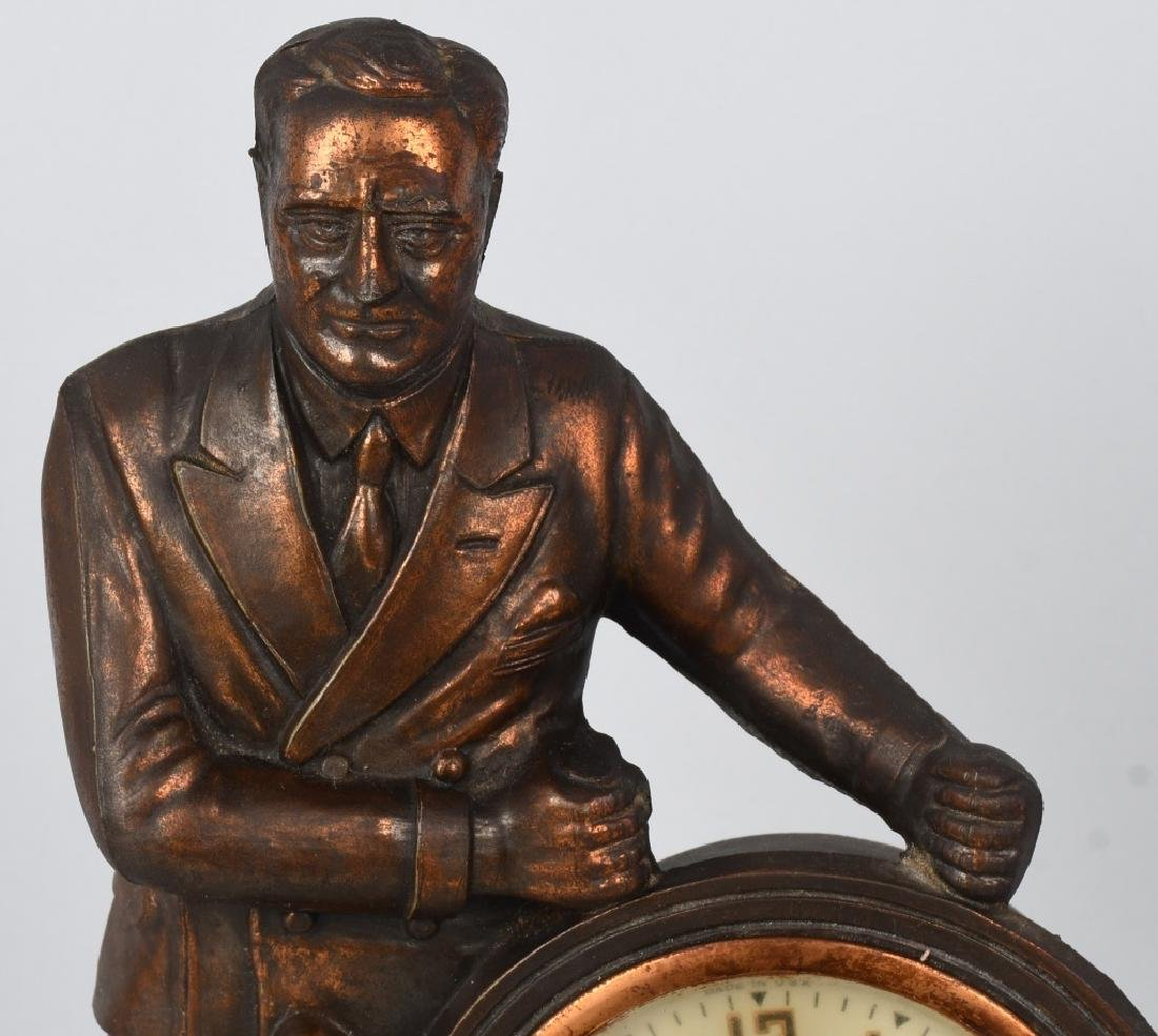 F.D.R. THE MAN of the HOUR MAN MANTEL CLOCK - 2