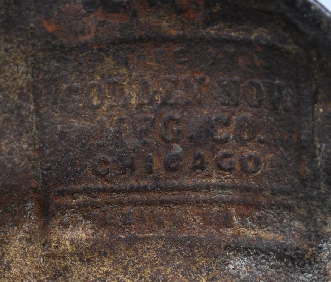 1900 COLUMBIA PATRIOTIC CAST IRON FIGURAL CLOCK - 7
