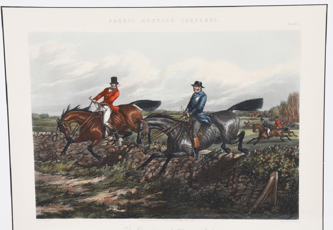 1859 FORES HUNTING SKETCHES PRINT, FRAMED - 2