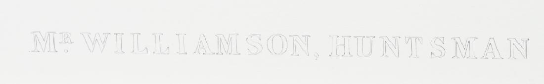 C.G. LEWIS ENGRAVING, MR. WILLIAMSON, HUNTSMAN - 4