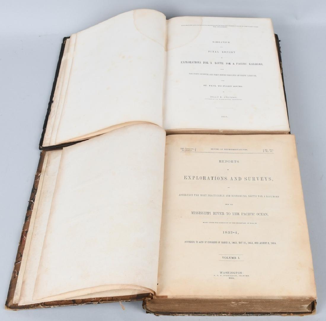 1853-1855 EXPLORATION RAILROAD VOLUMES I & XII
