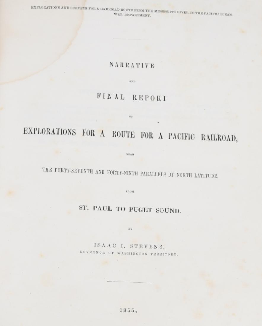 1853-1855 EXPLORATION RAILROAD VOLUMES I & XII - 2