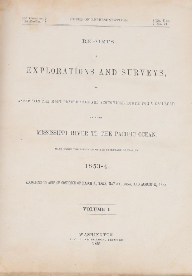 1853-1855 EXPLORATION RAILROAD VOLUMES I & XII - 3