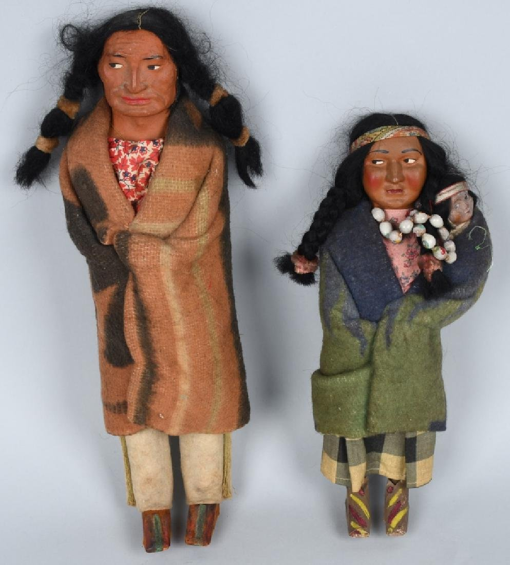 3-SKOOKUM UNDIAN DOLLS, ONE BOXED - 2