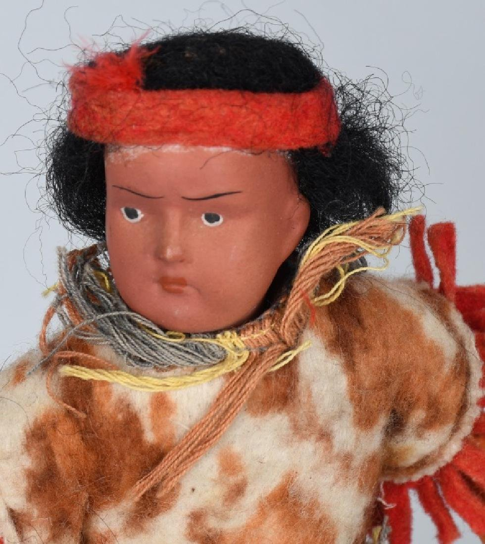 5-GERMAN BISQUE INDIAN DOLLS - 2