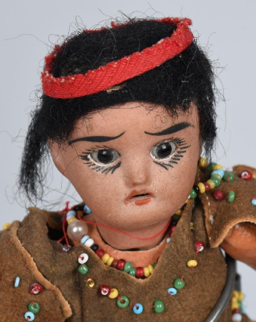 5-GERMAN BISQUE INDIAN DOLLS - 4