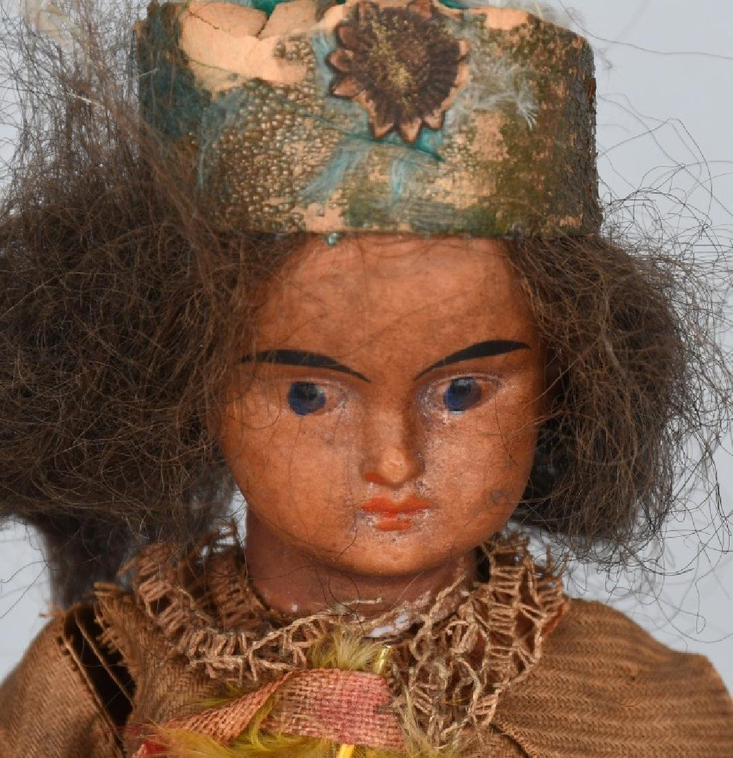 5-GERMAN BISQUE INDIAN DOLLS - 5