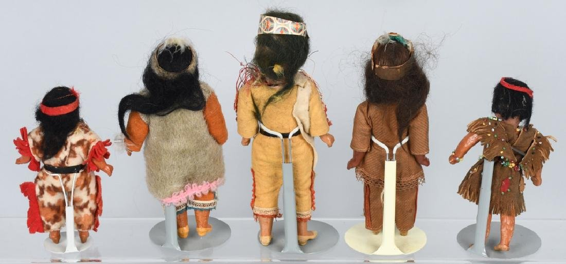 5-GERMAN BISQUE INDIAN DOLLS - 7