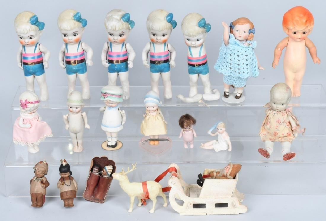 15-GERMAN & JAPAN BISQUE DOLLS and MORE