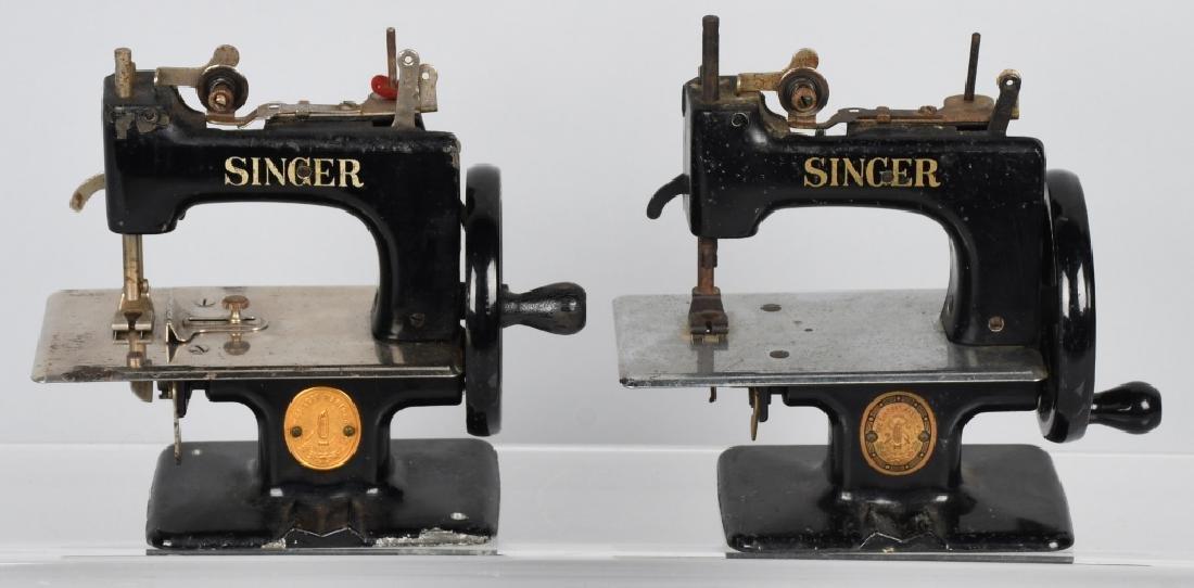 2-VINTAGE SINGER TOY SEWING MACHINES