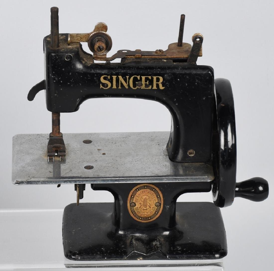 2-VINTAGE SINGER TOY SEWING MACHINES - 2