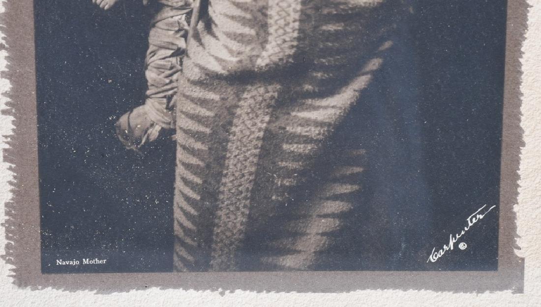 NAVAJO MOTHER & CHILD PHOTO, CARPENTER, 1915 - 3