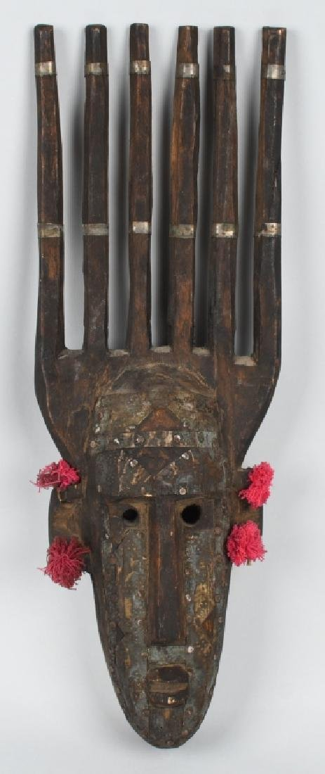BAMANA NTOMO, MALI, AFRICAN CEREMONIAL MASK