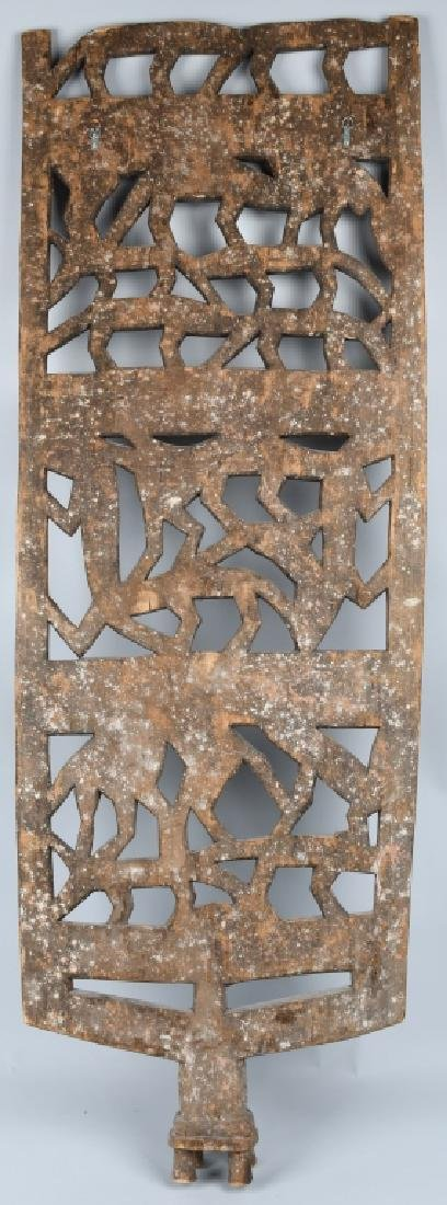 AFRICAN ELABORATE CARVED PANEL, CROCODILES - 6